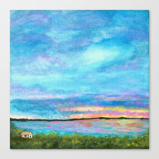 Good Morning, Beach House Sunrise Canvas Print