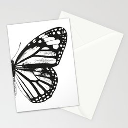 Monarch Butterfly | Right Butterfly Wing | Vintage Butterflies | Black and White | Stationery Cards