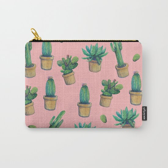 cactus pink water color Carry-All Pouch