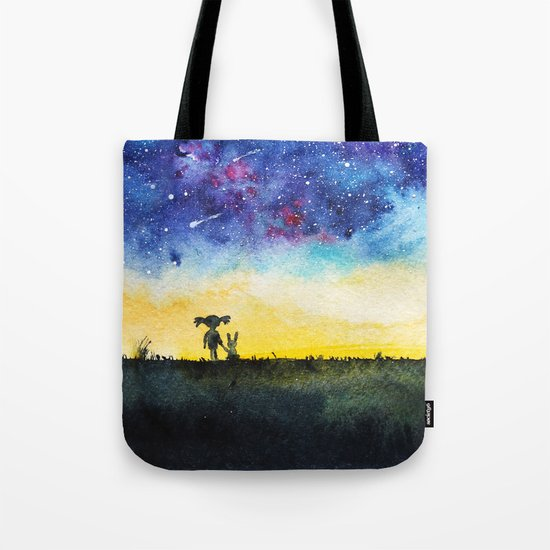 Making wishes on a shooting star Tote Bag