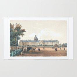 Paris art print Paris Decor office decoration vintage decor HOTEL DES INVALIDES of Paris Rug