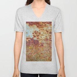 Patterns in Rust Unisex V-Neck