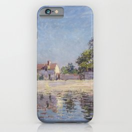 Bords du Loing, Saint-Mammes (The River Loing at Saint-Mammes) by Alfred Sisley iPhone Case