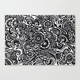 Crafted Doodle Canvas Print