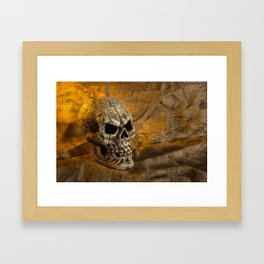 Skull And Sackcloth Framed Art Print