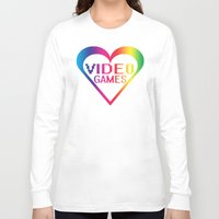 video games Long Sleeve T-shirts featuring love video games by seb mcnulty