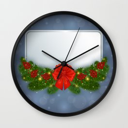 Christmas card Wall Clock