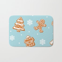 Gingerbread Cookies & Snowflakes Bath Mat