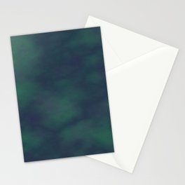 Dark blue and green marble Stationery Cards