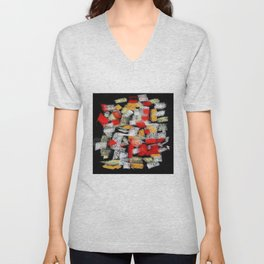 Abstract multicolor mosaics Unisex V-Neck