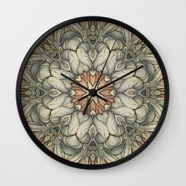 abstract flowers hand drawn and  kaleidoscope mandala Wall Clock