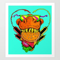 Food Face Art Print
