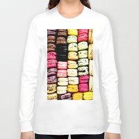macarons Long Sleeve T-shirts featuring Macarons LOVE by Lucrezia Semenzato