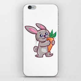 Cartoon Baby Rabbit iPhone Skin