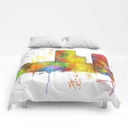 Tulsa, Oklahoma Skyline Comforters