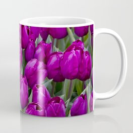 Close-up of a Field of Fuchsia Tulips in Amsterdam, Netherlands Coffee Mug