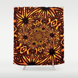 Funky Twisting 1 Shower Curtain