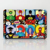 superheroes iPad Cases featuring Superheroes by Chicca Besso