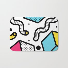 Memphis Pop-art Pattern II Bath Mat