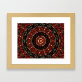 Rich European Burgundy Round Pattern A448a Framed Art Print