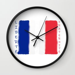 Liberté! Égalité! Fraternité! Wall Clock