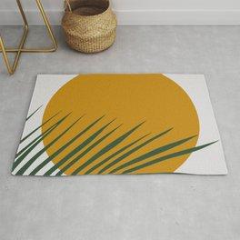 Palm tree sunshine gold Rug