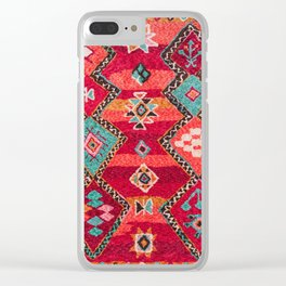 18 - Traditional Colored Epic Anthique Bohemian Moroccan Artwork Clear iPhone Case