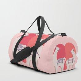 Llama and Alpaca with love Duffle Bag