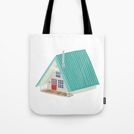 Little A Frame Cabin Tote Bag