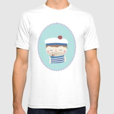 ship's boy MEDIUM White Mens Fitted Tee