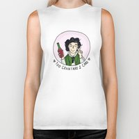 grantaire Biker Tanks featuring Too Grantaire 2 Care by AlyBee