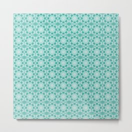 Project 503     White Lace on Teal Green Metal Print