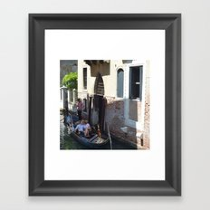 To Venice with Love Framed Art Print