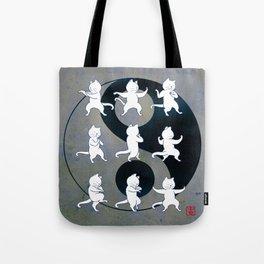 Tai Chi Cat Moves #1 Tote Bag
