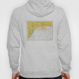 Vintage Map of San Pedro Bay CA (1970) Hoody