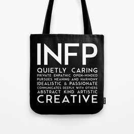 INFP (black version) Tote Bag