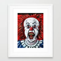 pennywise Framed Art Prints featuring Pennywise by MSG Imaging