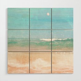 Sea and Moon Wood Wall Art