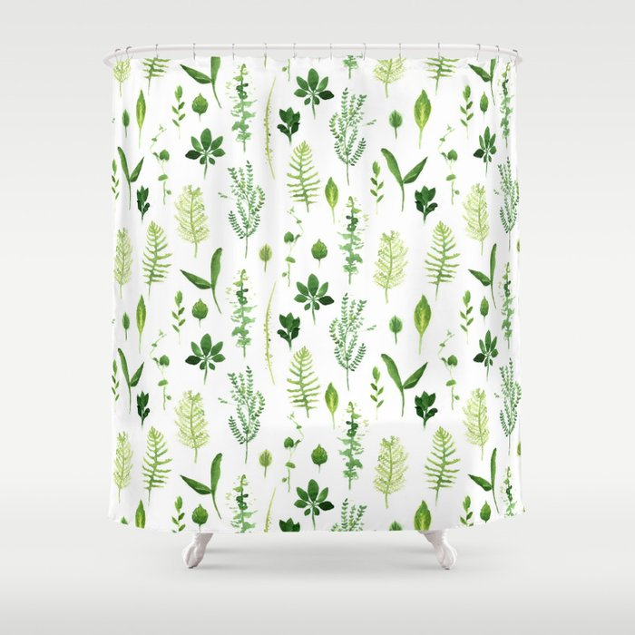 Leaves Shower Curtain by crumpetsandcrabsticks | Society6