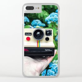 Vintage Instant Camera Clear iPhone Case
