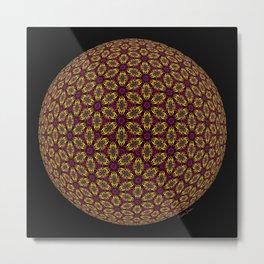 Sunset Spherized Hexa Flower Metal Print