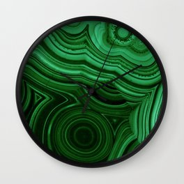 GREEN MALACHITE STONE PATTERN Wall Clock