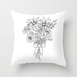 chlorophyll clots (white) Throw Pillow