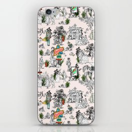 Toile de Jouy Between eras 01 iPhone Skin