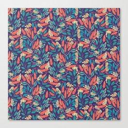 Indigo & Burnt Sienna Canvas Print