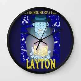 Layton Raiser Wall Clock