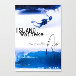 Waiheke island poster Canvas Print