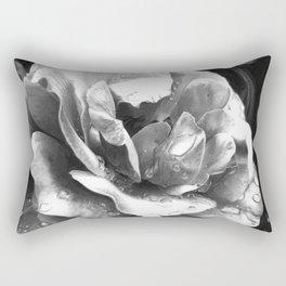 Morning Rose - greyscale version Rectangular Pillow
