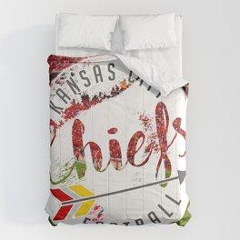 Chiefs Arrow at Dusk Comforters