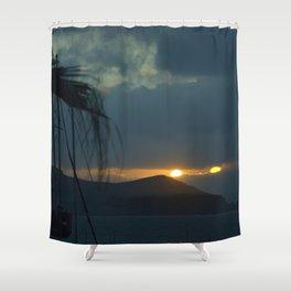 Sunset Naxos Shower Curtain